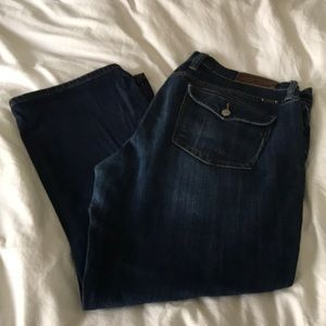 Lucky jeans sweet n crop size 12/31 dark jean crop